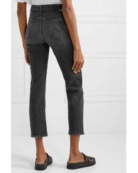 Jean Droit Taille Haute The Tomcat Ankle Mother en coloris Black