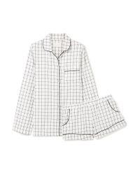 Three J Nyc Multicolor Josephine Checked Cotton-flannel Pajama Set