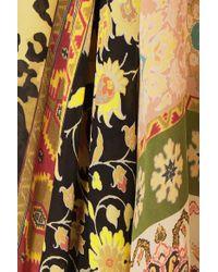 Etro Natural Printed Silk-crepe Top