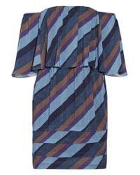ViX - Blue Ivy Off-the-shoulder Striped Voile Mini Dress - Lyst