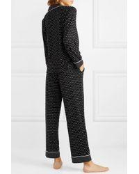 DKNY Black Bedruckter Pyjama Aus Stretch-jersey