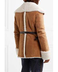 Loewe Multicolor Belted Shearling Jacket