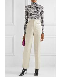 Commission Natural Cotton-gabardine Straight-leg Pants