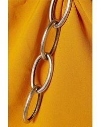 Robe Asymétrique En Crêpe À Drapés Et À Chaines Monse en coloris Yellow