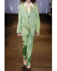 Acne Jaria Oversized Satin-twill Blazer Bright Green