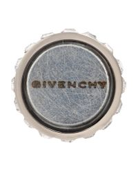 Givenchy - White Small Double Cone Shark Earring In Mother Of Pearl - Lyst