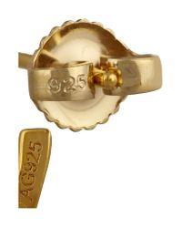 Saint Laurent Metallic Gold-Plated Hoop Earrings