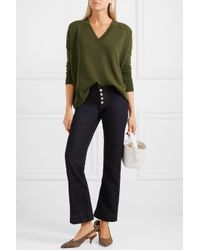 J.Crew - Green Cashmere Sweater - Lyst