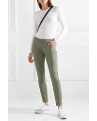 ATM Green Stretch-cotton Twill Tapered Pants