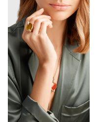 Pomellato - Metallic 18-karat Rose Gold, Tiger Eye And Diamond Ring Rose Gold 15 - Lyst