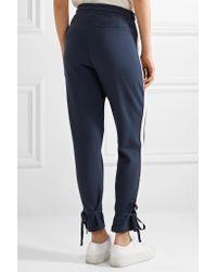 Splendid Blue Seabrook Striped Cotton-jersey Track Pants