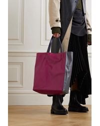 Marni Pink Museo Mittelgroße Tote Aus Leder In Knitter- Und Colour-block-optik