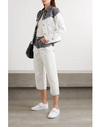 Givenchy White Jeansjacke Mit Batikmuster Und Stickerei