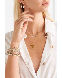 Chan Luu Metallic Silver, Gold-plated, Labradorite And Silverite Necklace
