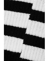Pull Asymétrique En Cachemire Côtelé À Rayures Elm Equipment en coloris Black