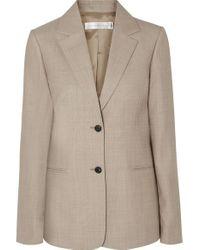Victoria Beckham Natural Blazer Aus Wolle