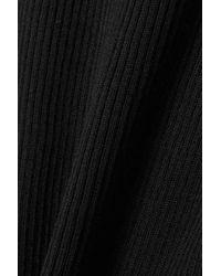 Dolce & Gabbana Black Tanktop Aus Gerippter Wolle