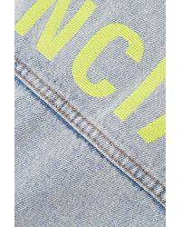 Balenciaga Blue Oversized-jeansjacke Mit Stickerei