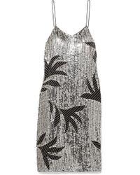 Dodo Bar Or Metallic Harriet Verziertes Kleid Aus Tüll Mit Pailletten