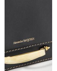 Alexander McQueen Black The Story Schultertasche Aus Leder