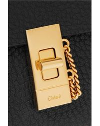 Chloé Black Textured-leather Continental Wallet