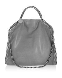 Stella McCartney | Gray The Falabella Medium Faux Brushed-leather Shoulder Bag | Lyst