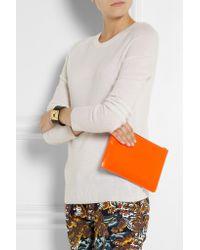 Comme des Garçons Orange Super Fluro Leather Pouch