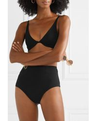 Haight Black Bikini Aus Stretch-crêpe Mit Bügeln