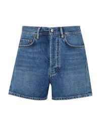 Acne Blue Swamp Denim Shorts