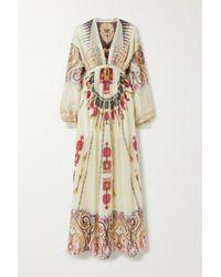 Etro Multicolor Printed Fil Coupé Silk-crepon Maxi Dress