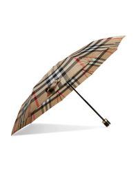 Burberry - Multicolor Checked Shell Umbrella - Lyst