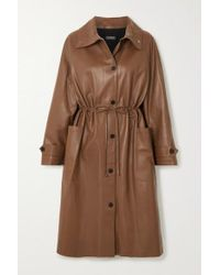 UTZON Brown Leather Coat