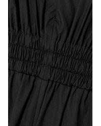 IRO Black Pleona Jumpsuit Aus Baumwollpopeline Mit Rüschen