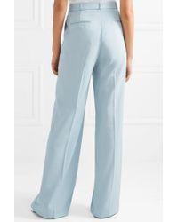 Pantalon Droit En Laine Stella McCartney en coloris Blue