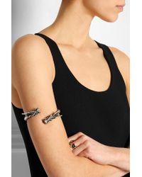 Saint Laurent - Metallic Silver-Tone Arm Cuff - Lyst