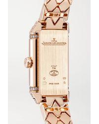 Montre À Remontage Manuel En Or Rose Et Diamants Reverso One Duetto 18 Mm Jaeger-lecoultre en coloris Metallic