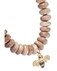 Sydney Evan Metallic Bee 14-karat Gold Multi-stone Bracelet