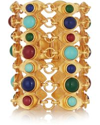 Ben-Amun | Metallic Gold-plated Cabochon Bracelet | Lyst