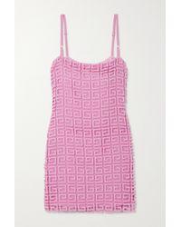 Givenchy Pink Minikleid Aus Guipure-spitze Aus Einer Wollmischung