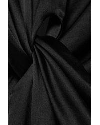 Deitas Black Olympia Maxikleid Aus Seidensatin Mit Knotendetail Und Cut-out