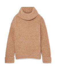 Adam Lippes Multicolor Merino Wool-blend Turtleneck Sweater
