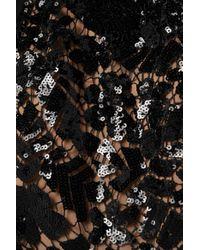Combi-pantalon En Dentelle Crochetée À Sequins, Crêpe Et Georgette MICHAEL Michael Kors en coloris Black