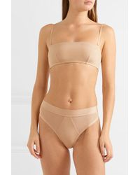 The Great Eros Natural Lugano Stretch-jersey Soft Cup Bandeau Bra