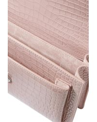 Saint Laurent | Pink Sunset Medium Croc-effect Leather Shoulder Bag | Lyst