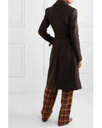 REMAIN Birger Christensen Brown Nima Belted Wool-blend Coat