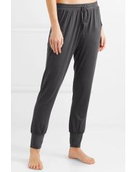 Eberjey Gray Umma Stretch-modal Jersey Track Pants