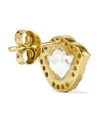 Amrapali - Metallic Nalika Lotus 18-karat Gold, Topaz And Diamond Earrings - Lyst