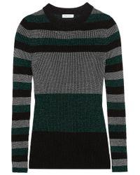Sonia Rykiel - Green Metallic Ribbed-knit Sweater - Lyst
