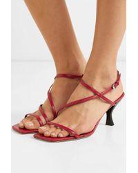 Sandales En Cuir Gita Staud en coloris Red