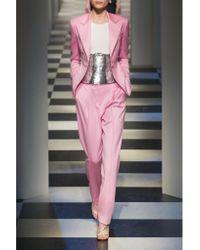 Oscar de la Renta   Pink Wool-blend Gabardine Blazer   Lyst